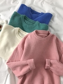 毛衣女外穿春秋韓版2021新款寬鬆慵懶風套頭圓領針織衫外套長袖潮 貝芙莉
