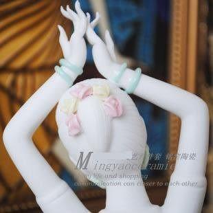 陶瓷雕刻 孔雀女