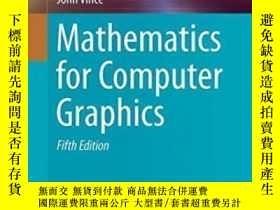 二手書博民逛書店Mathematics罕見For Computer Graphics (undergraduate Topics