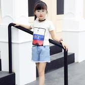 夏裝新款上衣半袖韓版兒童純棉白色t恤