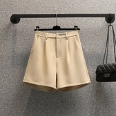 大碼西裝短褲女夏寬松高腰顯瘦休閑薄款a字外穿闊腿短褲MR26依佳衣