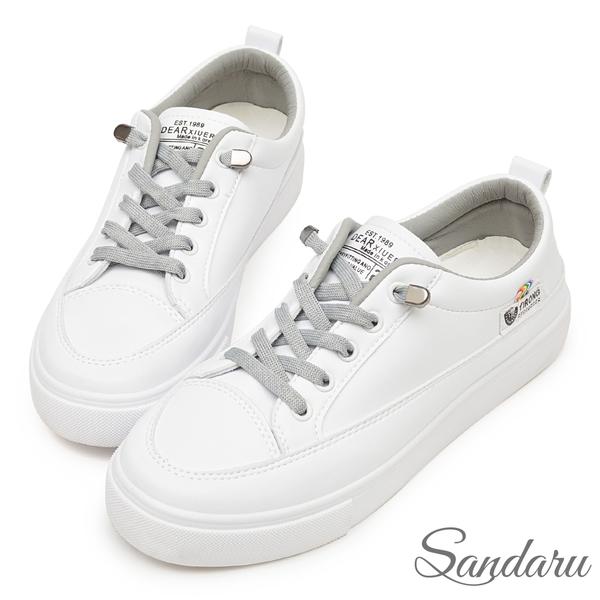 超軟免綁帶小白鞋