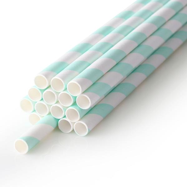 100入 綠條紋環保紙吸管 裸裝【F005】散裝紙吸管 營業用紙吸管 紙吸管 一次性吸管 紙吸管