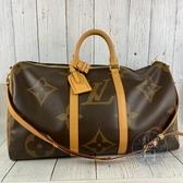BRAND楓月 LOUIS VUITTON LV M44739 KEEPALL 50 經典大原花 旅行袋 手提包 斜背包