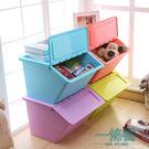 蜜蜜花大號透明塑料收納箱廚房有蓋儲物箱 可疊加衣物玩具整理箱