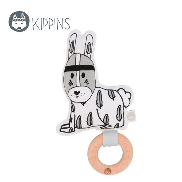 Kippins 澳洲 有機棉櫸木固齒器 / 動物造型固齒器 – 羽毛小兔子 RIVER KIPLET