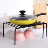 可伸縮廚房置物架廚房鍋架調味碗架浴室客廳分層收納架櫥柜隔層架