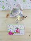 【震撼精品百貨】Hello Kitty 凱蒂貓~KITTY證件套附繩(伸縮拉扣)-草莓圖案-粉色