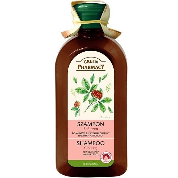【南紡購物中心】【Green Pharmacy】人蔘強健修護洗髮精 350ml (油性頭皮/髮根乾燥適用)
