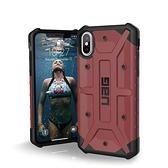 【美國代購】UAG iPhone Xs / X [5.8英寸]外殼等離子 耐衝擊軍用防摔測試 保護套 胭脂紅