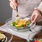 微波爐鋼化透明玻璃水果盤子餐具耐熱魚盤餐盤碟子菜盤【千尋之旅】