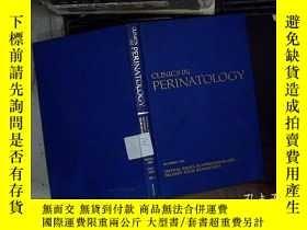 二手書博民逛書店clinics罕見in perinatology 1989 圍產