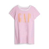Gap女童時尚舒適條紋短袖T恤592539-粉色條紋