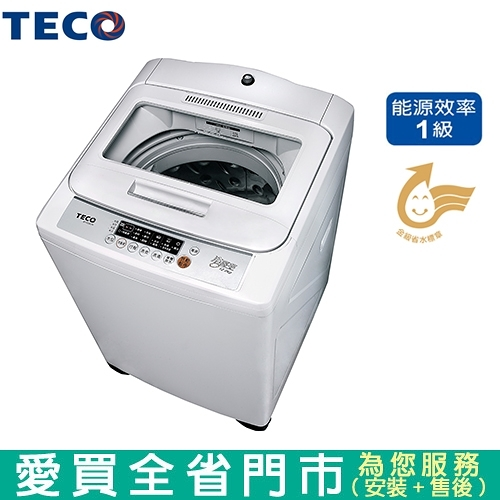 TECO東元12kg定頻洗衣機W1238FW 含配送到府+標準安裝【愛買】