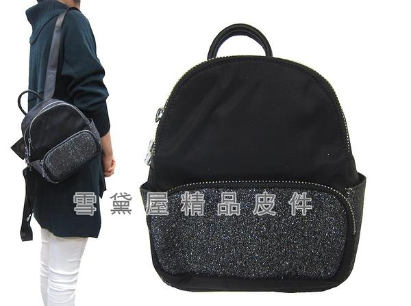 ~雪黛屋~COUNT 後背包超小型容量進口防水尼龍布+皮革材質二層主袋BCD50002501160