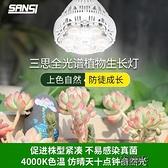植物補光燈 led植物補光燈仿太陽光全光譜24w三思室內家用多肉36w 【快速出貨】