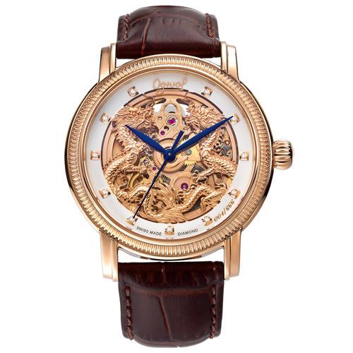 Ogival 瑞士愛其華 雙龍獻瑞自動機械鑽錶/40mm