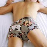新年鉅惠 3條裝男士內褲純棉卡通可愛青年動漫個性印花紋夏季潮平角褲學生