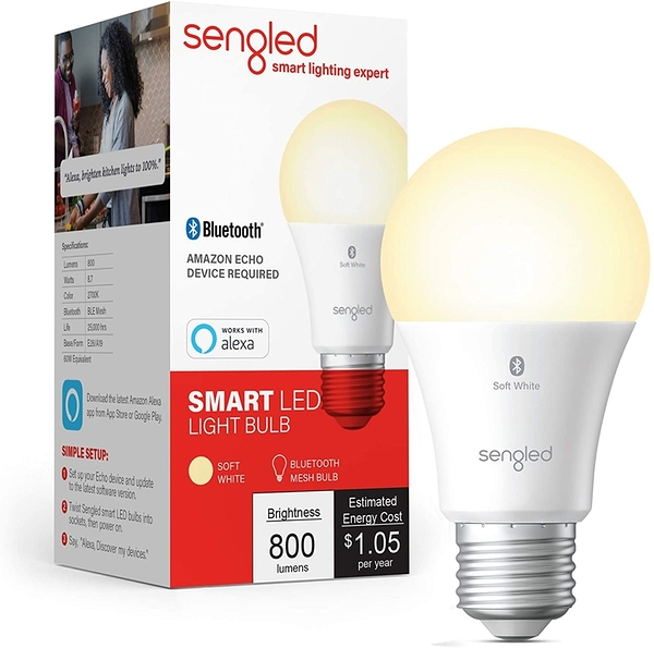 [9美國直購] 智能燈泡 Sengled Smart Light Bulb, Bluetooth Mesh E26 Smart Bulb That  _t01