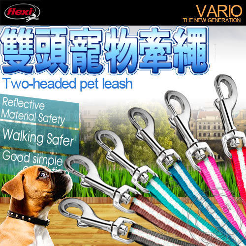 【培菓平價寵物網】Flexi》飛萊希 1對2雙頭牽繩S號 (同時使用2隻小型寵物)