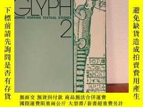 二手書博民逛書店Glyph罕見2. John Hopkins Textual S