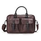 【5折超值價】經典復古造型扣環休閒商務側背包