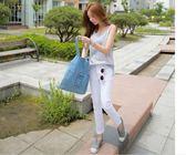 618大促 2018韓國新款女包單肩包牛仔布包時尚挎包牛仔帆布單肩包手提包女