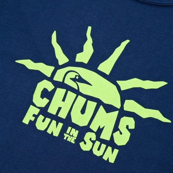 CHUMS 日本 男 Tech吸濕快排 Sun Shine 短袖T恤 深藍綠 CH011114N001