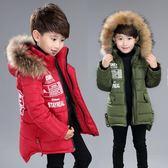 快速出貨-男童棉衣冬裝棉襖加厚新款正韓中長款中大兒童毛領棉服羽絨棉外套