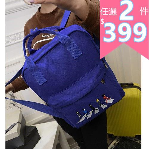 後背包 -現貨販售-質感童趣過馬路手提後背兩用包包 寶來小舖 -BB6525