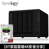 【家庭雲端4K影音分享】Synology NAS+IronWolf 2TB 四顆