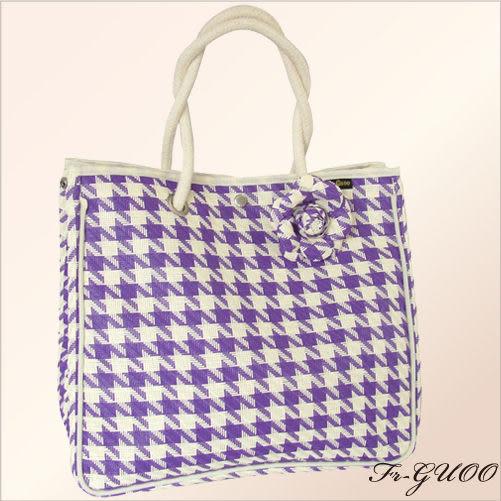 《家購網寢俱館》/法果輕時尚系列 – FRB509 編織菱格包(紫色)