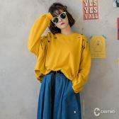 CANTWO鏤空鉚釘裝飾全棉衛衣-共三色