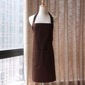 圍裙 定制刺繡印字logo純棉圍裙奶茶甜品烘焙花店咖啡廳服務員工作圍裙 克萊爾