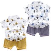 短袖套裝 印地安帳篷 短袖襯衫 休閒短褲 嬰幼兒套裝 短袖上衣 寶寶童裝 CK1758 好娃娃
