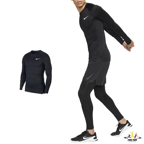 Nike Pro 男 黑 緊身衣 壓縮上衣 長袖 長tee 運動內搭上衣 Dri-FIT 透氣 排汗 訓練 快乾 BV5589-010