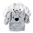 長袖上衣 小熊毛絨絨長袖T恤 刷毛保暖上衣 兒童毛衣 秋冬童裝 CA11707 好娃娃
