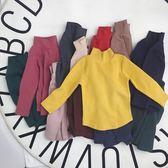 女童長袖 半高領純棉t恤秋冬新款韓版寶寶保暖加厚打底衫潮「輕時光」