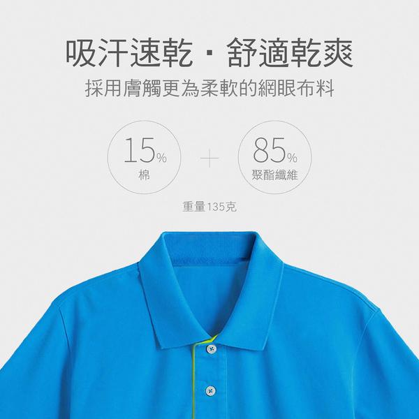 【晶輝團體制服】CH248*配色網眼純棉短袖POLO衫