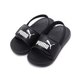 PUMA POPCAT 20 BACKSTRAP AC PS 後帶運動拖鞋 黑白 380555-01 大童鞋