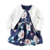 Carter's平行輸入童裝 女寶寶 薄針織外套&洋裝連身裙&內褲 紫花【CA121G880】
