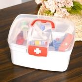 家庭裝家用大容量醫藥包應急箱藥品收納盒全套宿舍小藥箱  蘑菇街小屋