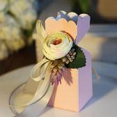 尾牙年貨節喜品空間婚慶用品歐式創意喜糖盒子新款婚禮包裝盒花朵形狀喜糖盒第七公社