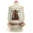 蓮花陶瓷圣水杯擺件3個