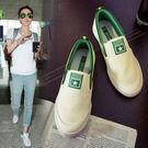 帆布鞋   套腳平底 休閒韓版 小白鞋