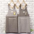 圍裙 日式棉麻家用廚房圍裙防油成人做飯罩衣工作服咖啡店服文藝圍裙 星 星河光年