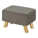 【森可家居】奈德灰色長方凳 10ZX251-8麻布椅凳 實木腳 北歐風