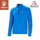 【Wildland 荒野 男 POLARTEC拉鍊長袖上衣《中藍》】P1608/半領襟/運動衣/吸濕排汗/休閒衫