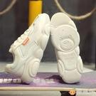 老爹鞋 小熊女鞋冬季透氣網面新款運動百搭ins冬款小白老爹潮鞋冬款 雅楓居