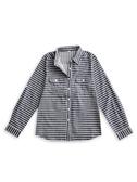 BOBSON 女款條紋長袖襯衫(34137-53)